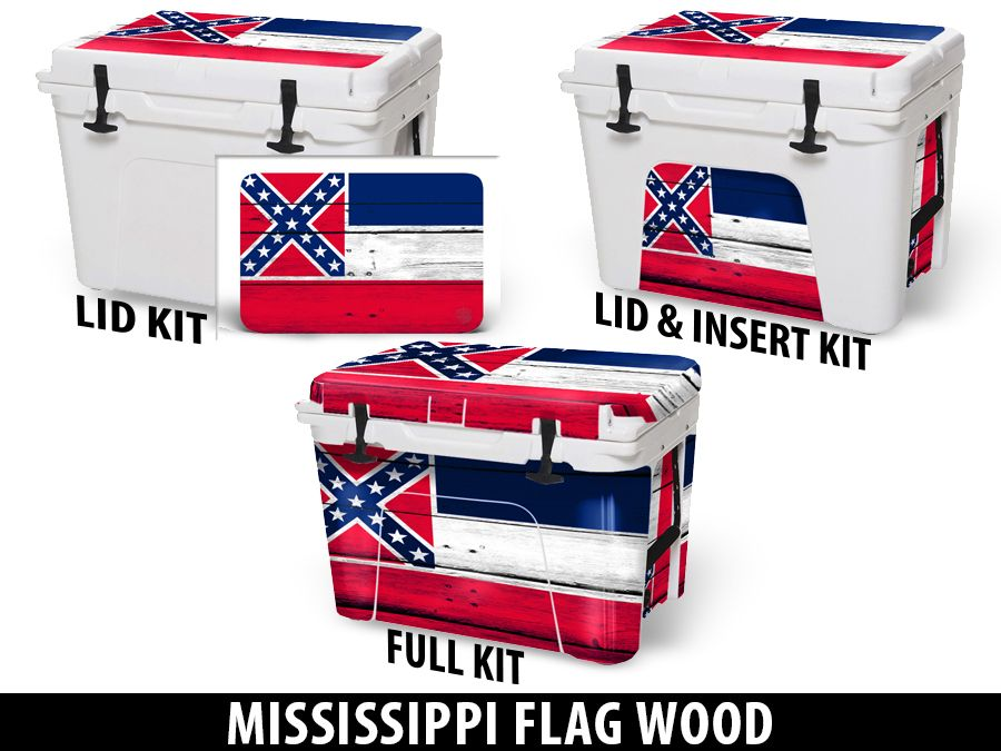 USATuff Cooler Accessories Ice Chest Graphic Sticker Decal Kits - Mississippi