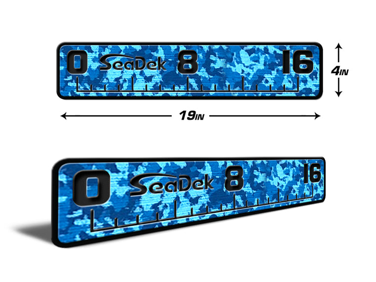 "Fish Ruler 16"" Aqua Camo over Black"