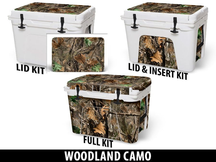 USATuff Cooler Accessories Ice Chest Graphic Sticker Decal Kits - Woodland Camo