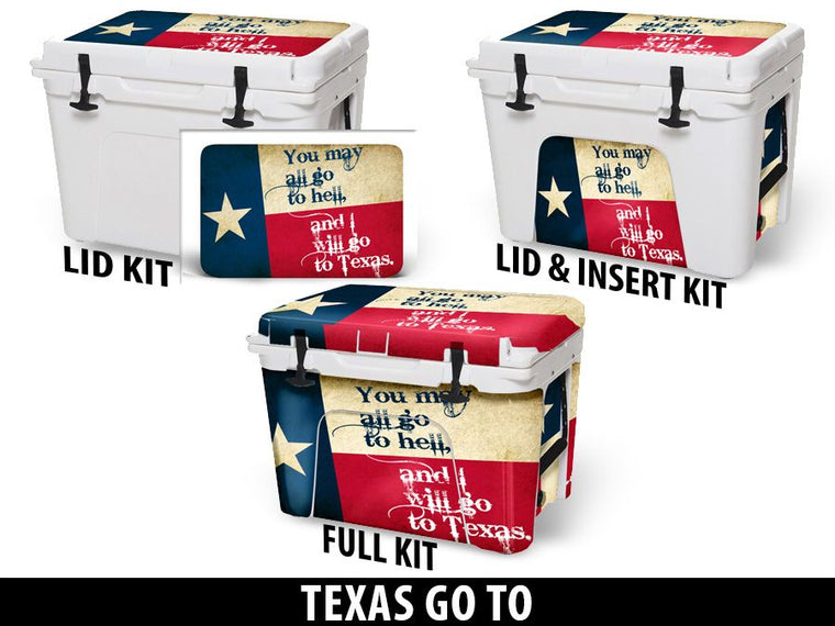 USATuff Cooler Accessories Ice Chest Graphic Sticker Decal Kits - Texas Go To…