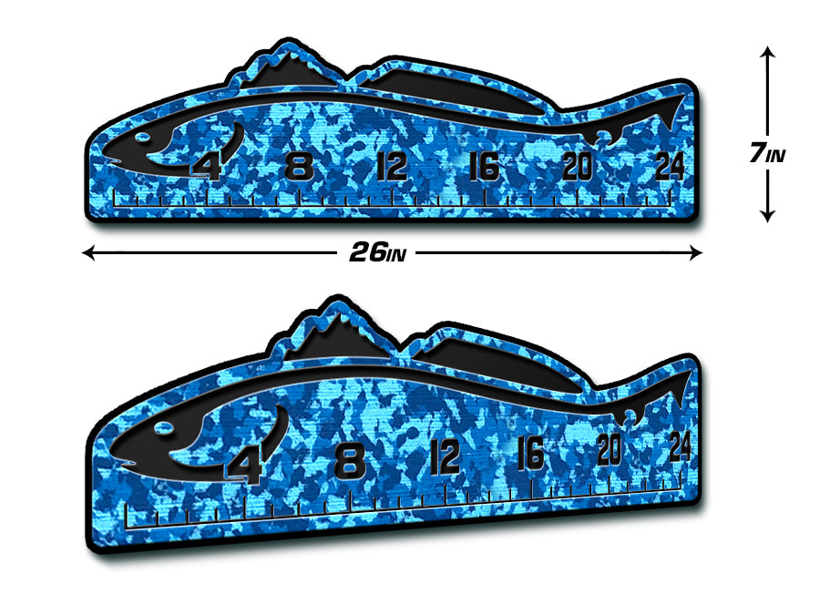 "Fish Ruler 24"" REDFISH AquaCamo/Black"