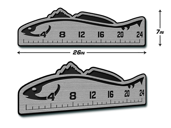 "Fish Ruler 24"" REDFISH Gray/Black"