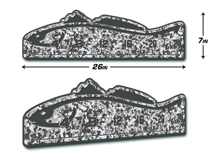 "Fish Ruler 24"" REDFISH SnowCamo/Dark Gray"