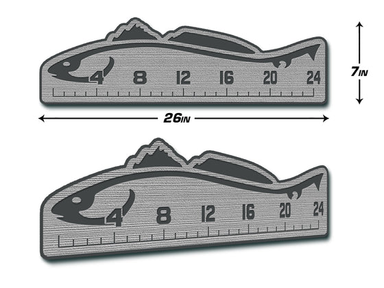 "Fish Ruler 24"" REDFISH Storm Gray/Dark Gray"