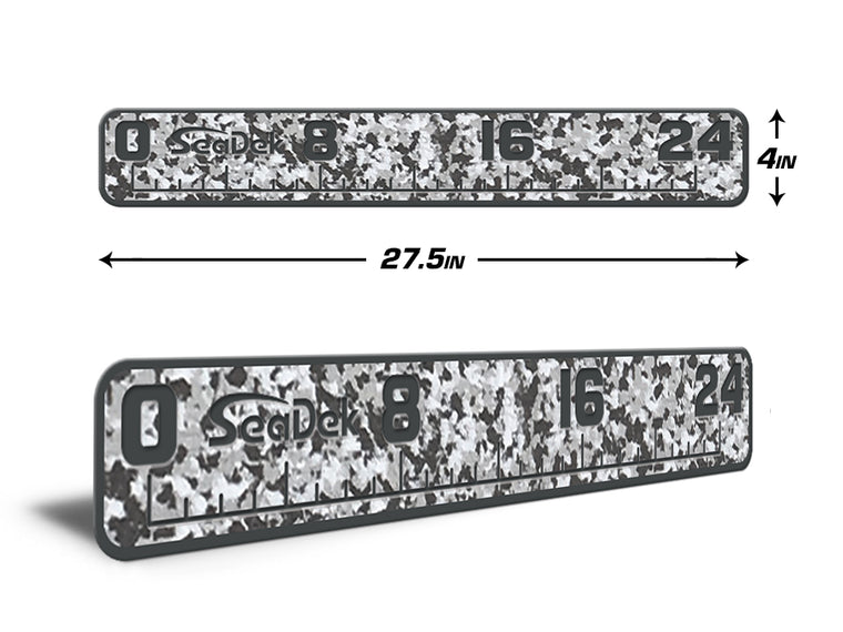 "Fish Ruler 24"" Snow Camo over Dark Gray"