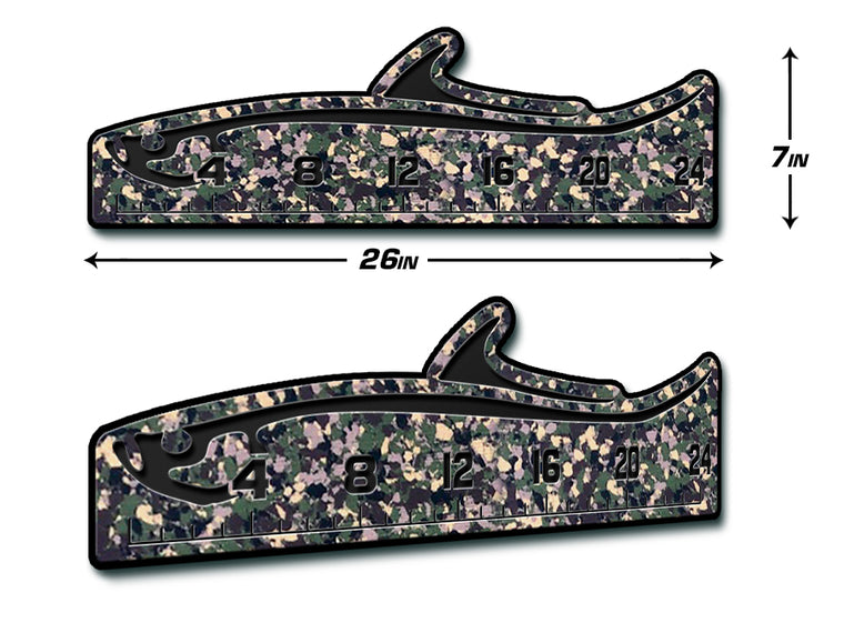 "Fish Ruler 24"" TARPON ArmyCamo/Black"