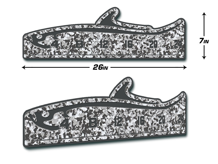 "Fish Ruler 24"" TARPON SnowCamo/Dark Gray"