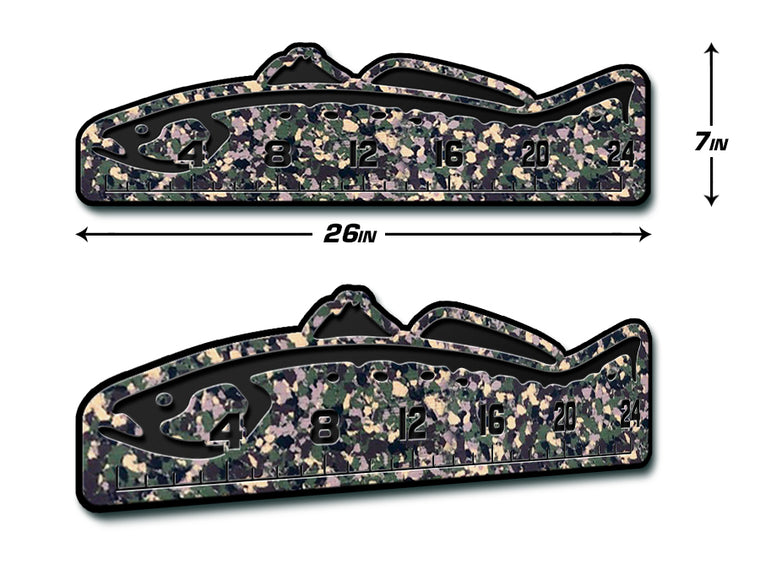 "Fish Ruler 24"" TROUT ArmyCamo/Black"
