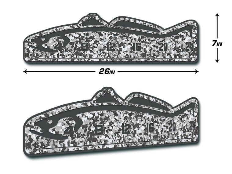 "Fish Ruler 24"" TROUT SnowCamo/Dark Gray"