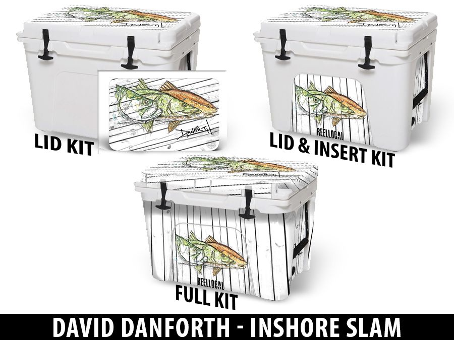 USATuff Cooler Accessories Ice Chest Graphic Sticker Decal Kits - Inshore Slam by David Danforth