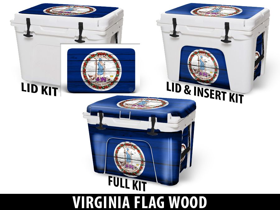 USATuff Cooler Accessories Ice Chest Graphic Sticker Decal Kits - Virginia