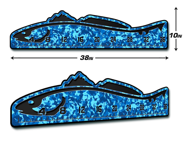 "Fish Ruler 36"" REDFISH AquaCamo/Black"