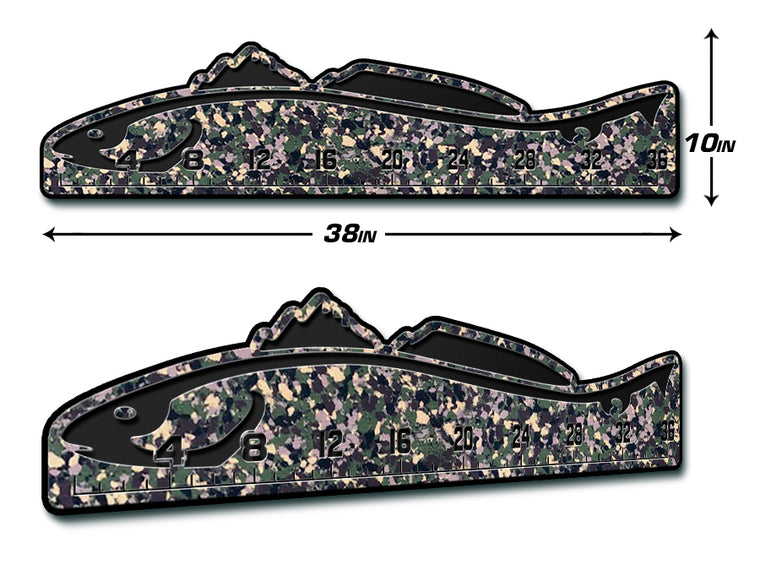 "Fish Ruler 36"" REDFISH ArmyCamo/Black"