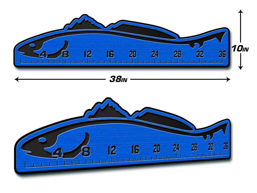 "Fish Ruler 36"" REDFISH BiminiBlue/Black"