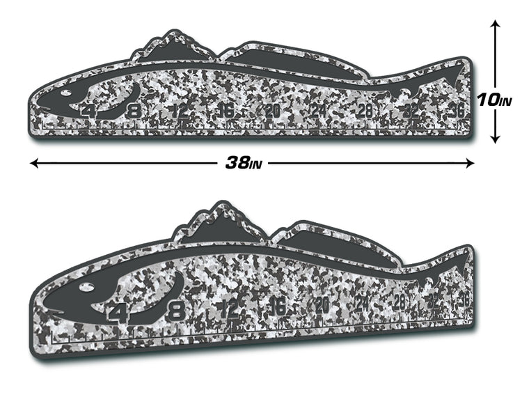 "Fish Ruler 36"" REDFISH SnowCamo/Dark Gray"