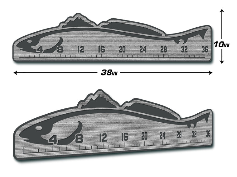 "Fish Ruler 36"" REDFISH Storm Gray/Dark Gray"