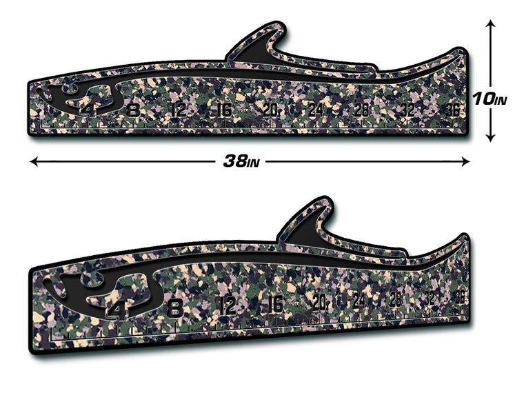 "Fish Ruler 36"" TARPON ArmyCamo/Black"