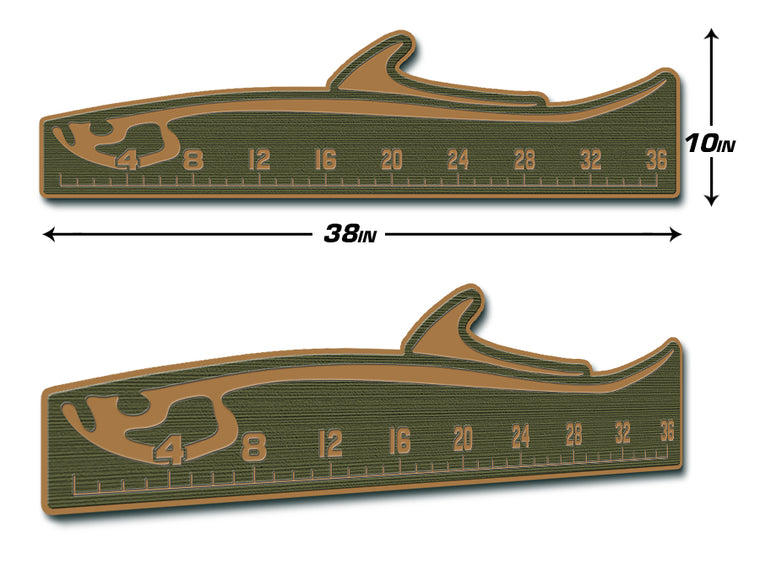 "Fish Ruler 36"" TARPON Olive Green/Mocha"