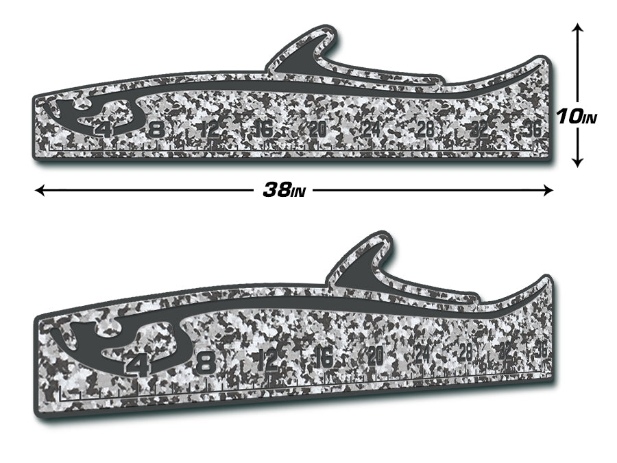 "Fish Ruler 36"" TARPON SnowCamo/Dark Gray"
