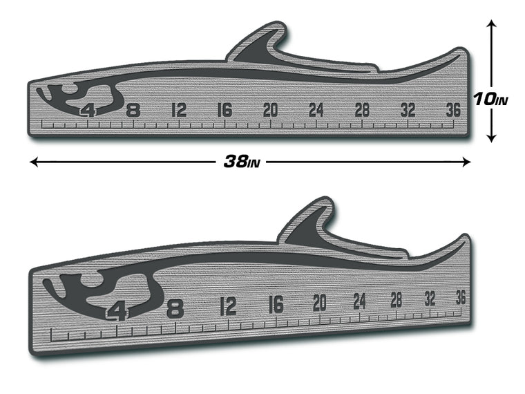 "Fish Ruler 36"" TARPON Storm Gray/Dark Gray"
