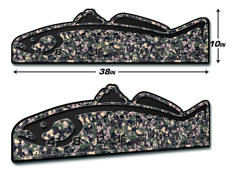 "Fish Ruler 36"" TROUT ArmyCamo/Black"