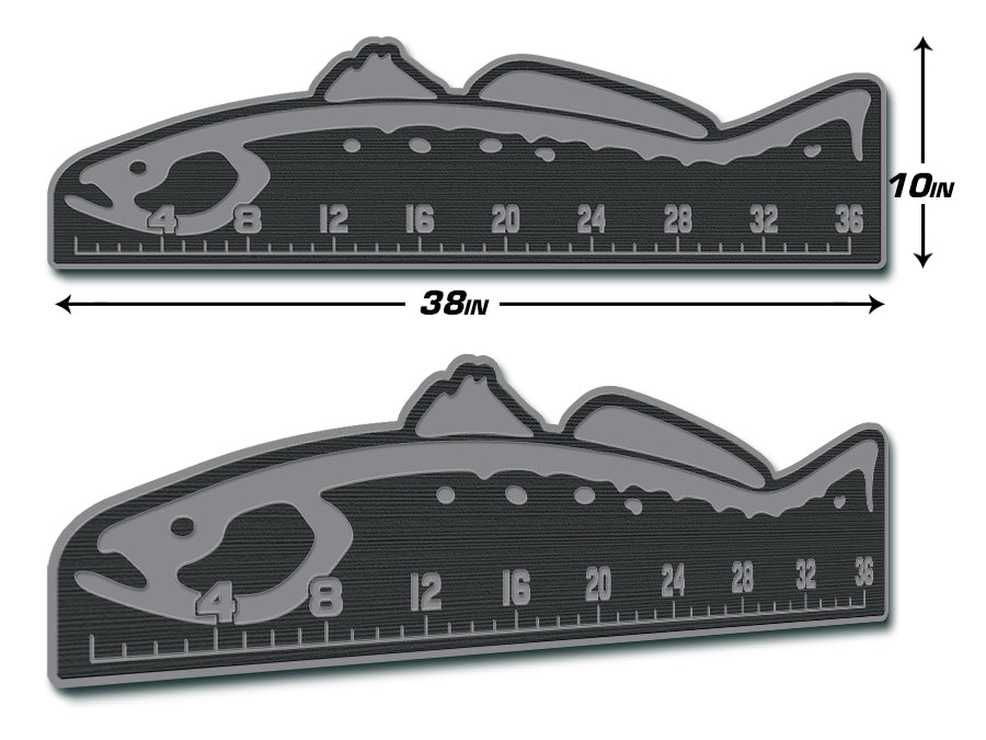 "Fish Ruler 36"" TROUT Dark Gray/Storm Gray"