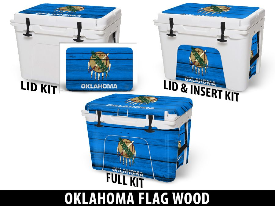 USATuff Cooler Accessories Ice Chest Graphic Sticker Decal Kits - Oklahoma