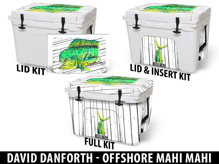 USATuff Cooler Accessories Ice Chest Graphic Sticker Decal Kits - Offshore Mahi Mahi by David Danforth