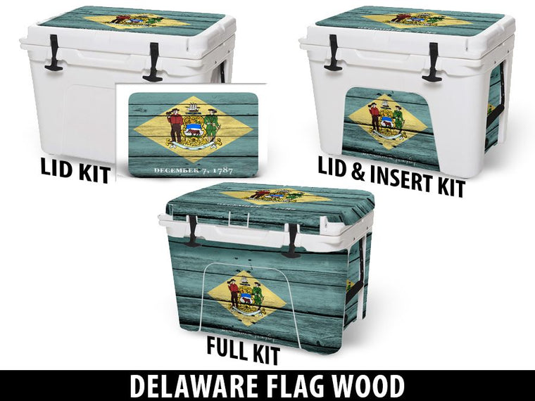 USATuff Cooler Accessories Ice Chest Graphic Sticker Decal Kits - Delaware