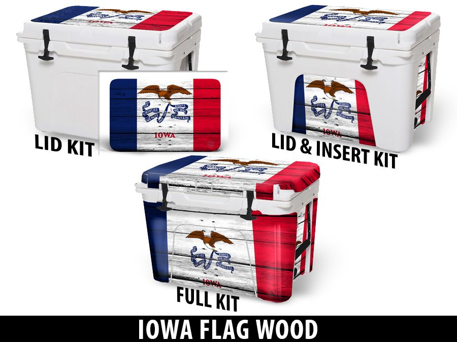 USATuff Cooler Accessories Ice Chest Graphic Sticker Decal Kits - Iowa