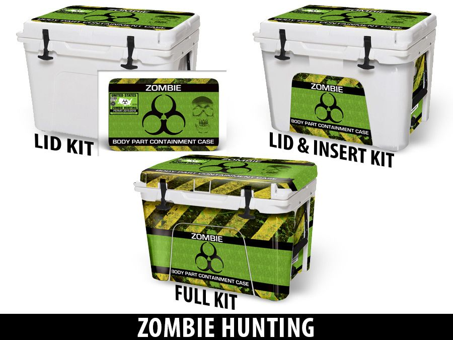 USATuff Cooler Accessories Ice Chest Graphic Sticker Decal Kits - Zombie Hunting