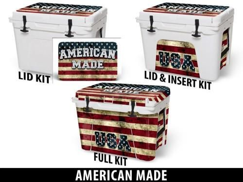 USATuff Cooler Accessories Ice Chest Graphic Sticker Decal Kits - American Made