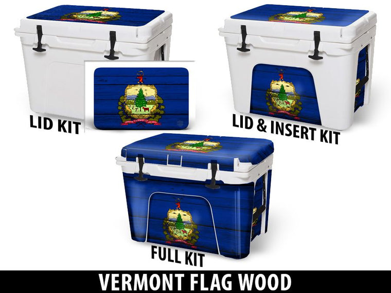 USATuff Cooler Accessories Ice Chest Graphic Sticker Decal Kits - Vermont
