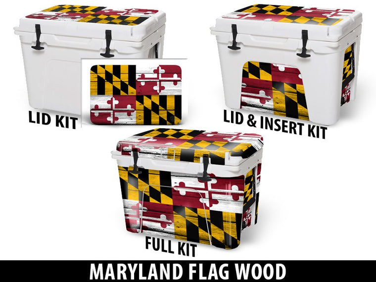 USATuff Cooler Accessories Ice Chest Graphic Sticker Decal Kits - Maryland