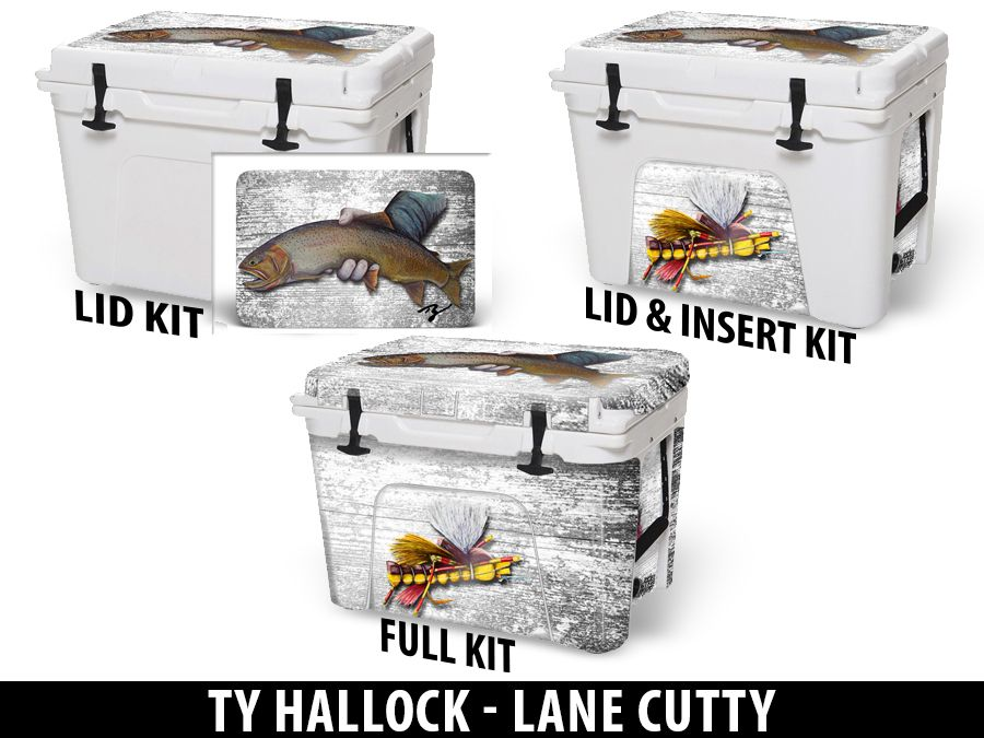 USATuff Cooler Accessories Ice Chest Graphic Sticker Decal Kits - Lane Cutty by Ty Hallock