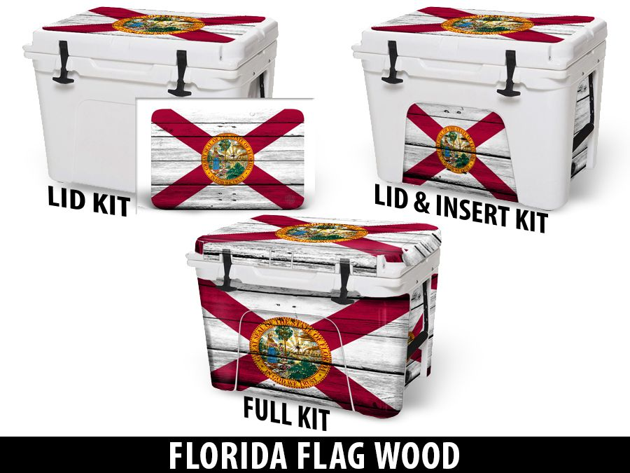 USATuff Cooler Accessories Ice Chest Graphic Sticker Decal Kits - Florida