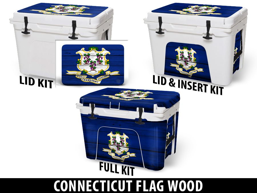 USATuff Cooler Accessories Ice Chest Graphic Sticker Decal Kits - Connecticut