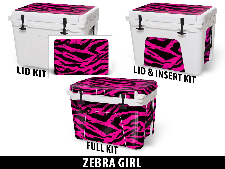 USATuff Cooler Accessories Ice Chest Graphic Sticker Decal Kits - Zebra Girl