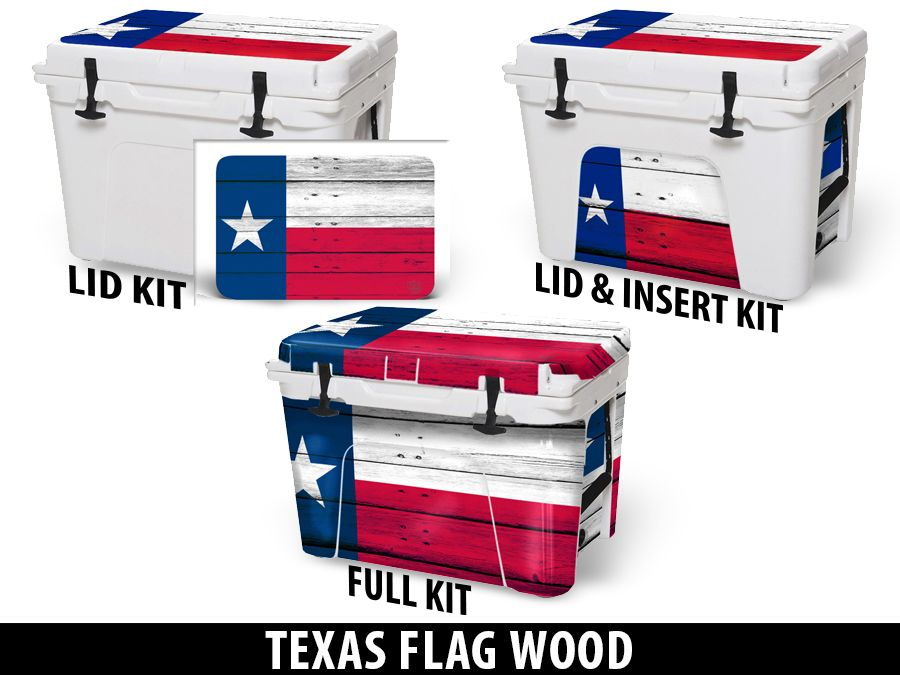 USATuff Cooler Accessories Ice Chest Graphic Sticker Decal Kits - Texas