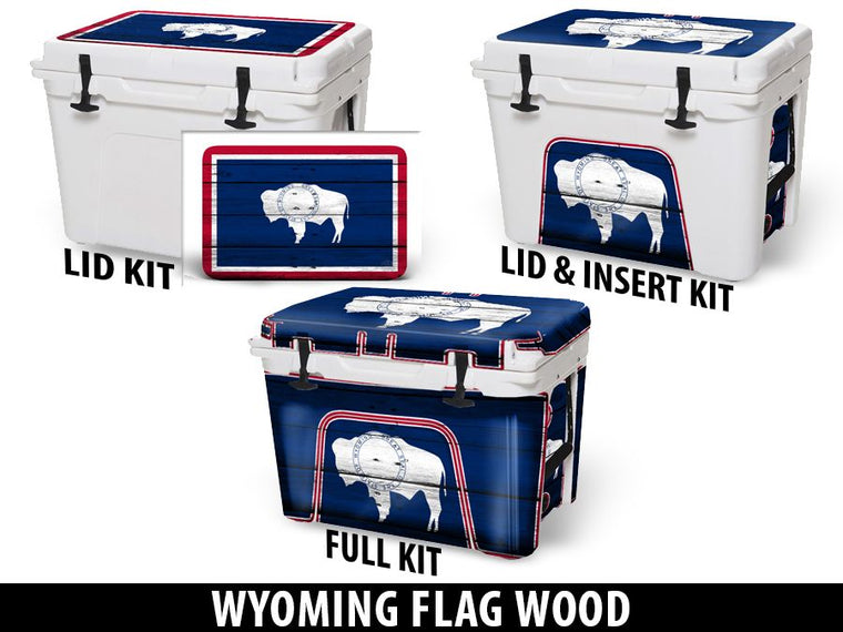 USATuff Cooler Accessories Ice Chest Graphic Sticker Decal Kits - Wyoming