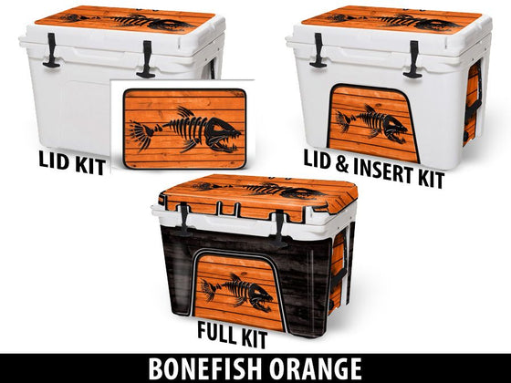 USATuff Cooler Accessories Ice Chest Graphic Sticker Decal Kits - Bonefish Orange