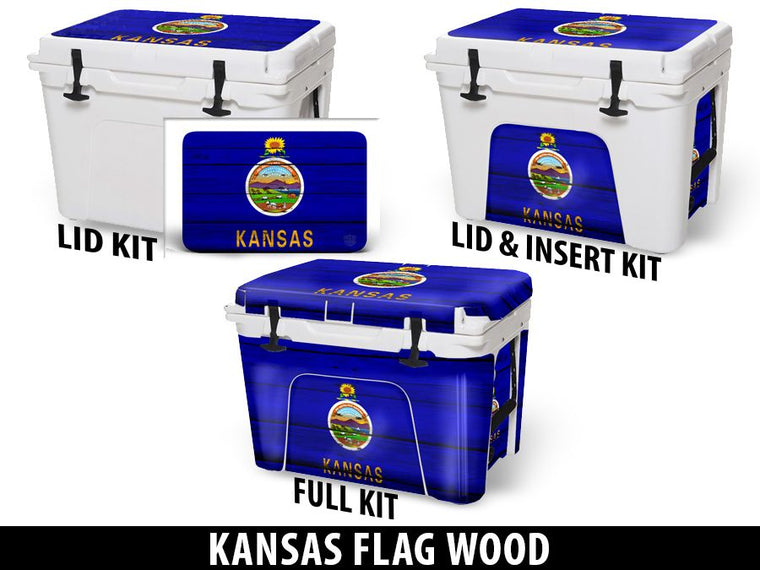 USATuff Cooler Accessories Ice Chest Graphic Sticker Decal Kits - Kansas