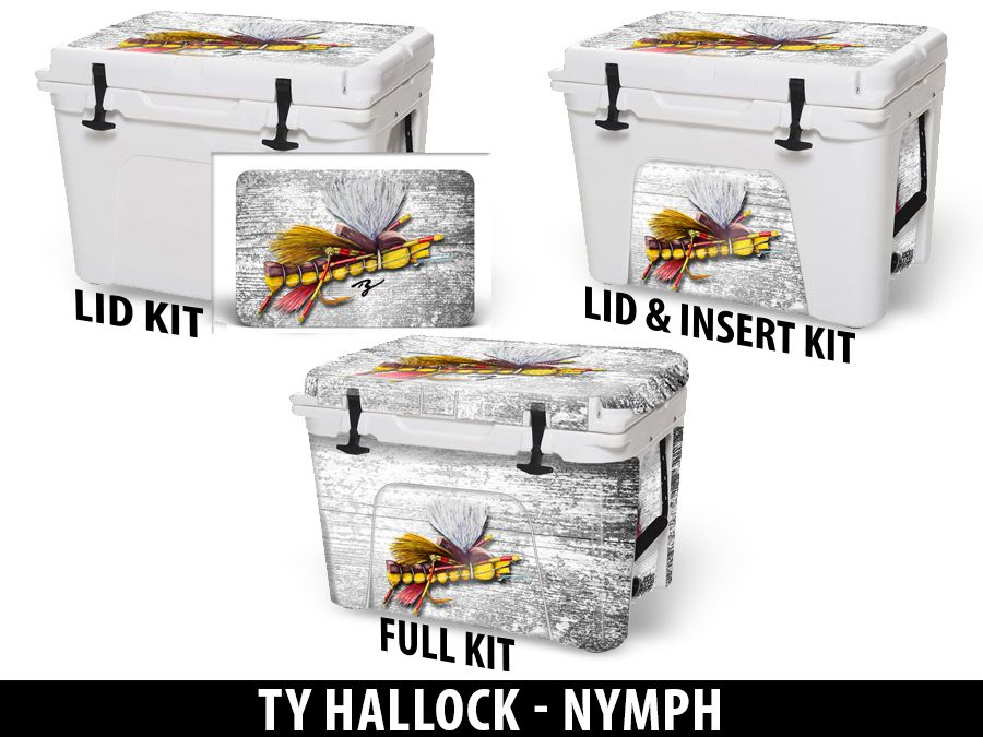 USATuff Cooler Accessories Ice Chest Graphic Sticker Decal Kits - Nymph by Ty Hallock