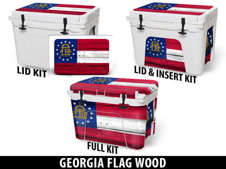USATuff Cooler Accessories Ice Chest Graphic Sticker Decal Kits - Georgia