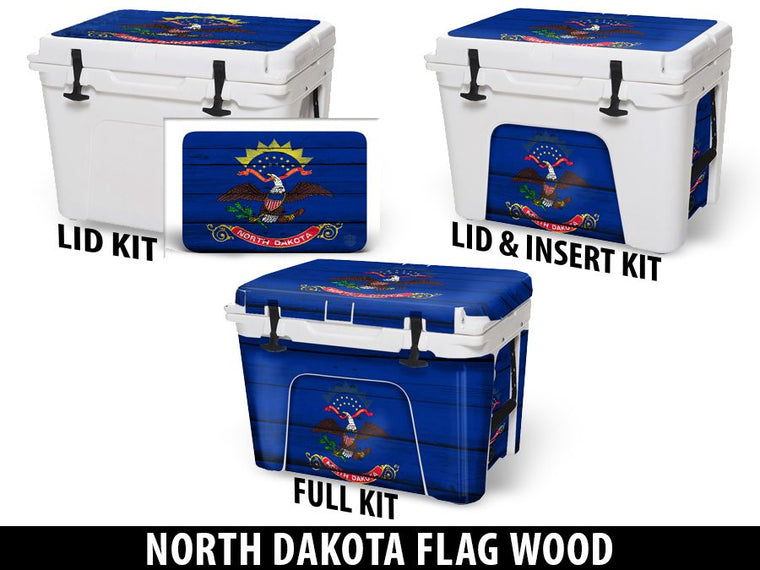 USATuff Cooler Accessories Ice Chest Graphic Sticker Decal Kits - North Dakota