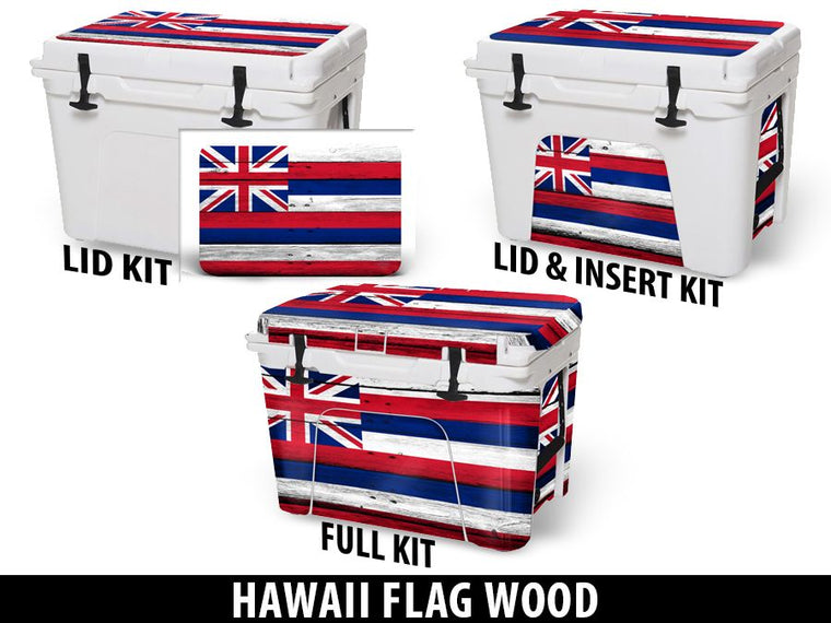 USATuff Cooler Accessories Ice Chest Graphic Sticker Decal Kits - Hawaii