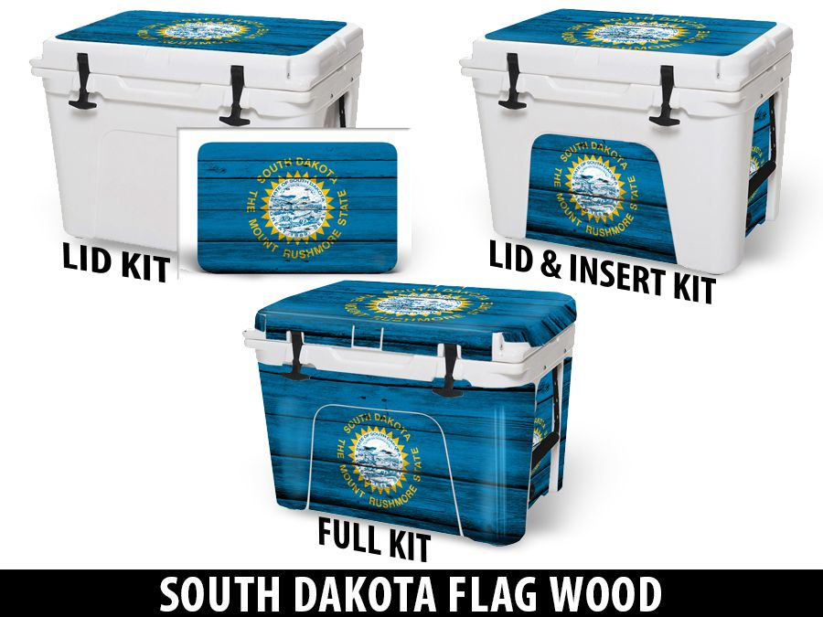 USATuff Cooler Accessories Ice Chest Graphic Sticker Decal Kits - South Dakota