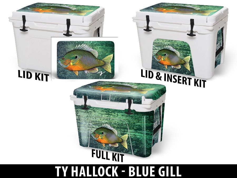 USATuff Cooler Accessories Ice Chest Graphic Sticker Decal Kits - Blue Gill by Ty Hallock
