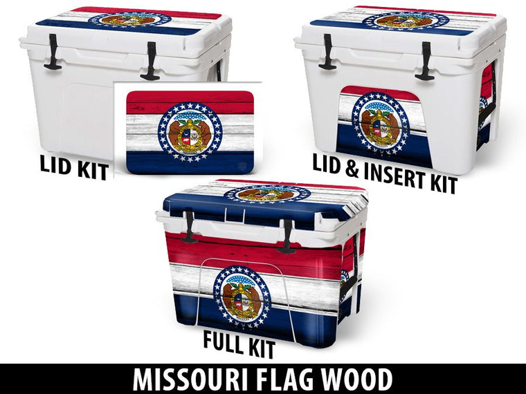 USATuff Cooler Accessories Ice Chest Graphic Sticker Decal Kits - Missouri