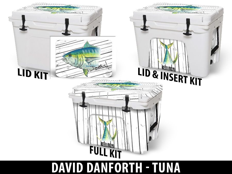 USATuff Cooler Accessories Ice Chest Graphic Sticker Decal Kits - Tuna by David Danforth